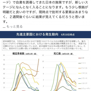 東京アラート解除について高山先生の見解