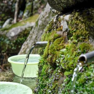 宝満山 楞伽院山荘(りょうがいんさんそう)の水場