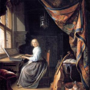 【おまけ】「ヴァージナルの前に座る女」には原作がある?フェルメールが参考にした画家とは ~ロンドン・ナショナル・ギャラリー~