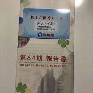 西松屋チェーンの株主優待が到着100株で1000円分の優待カード