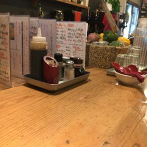 渡辺通「串カツ 博多空気椅子酒場」担々麺ランチはなかなかGOOD
