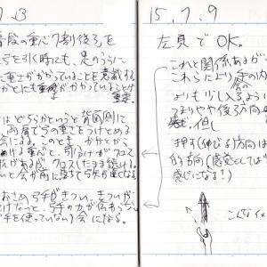 重心の位置について_150703弓道練習メモ