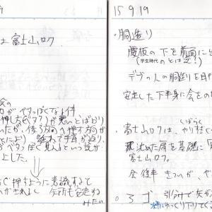 胴造りの腰と重心の位置について_'15/09/19弓道練習メモ