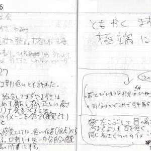 口割とあご浮きと視界の関係_'15/09/26 , 09/27弓道練習メモ