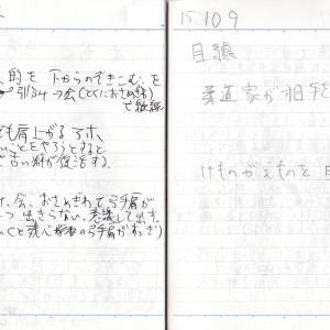 的を見下すと良いことはない_'15/10/04 , 10/09弓道練習メモ