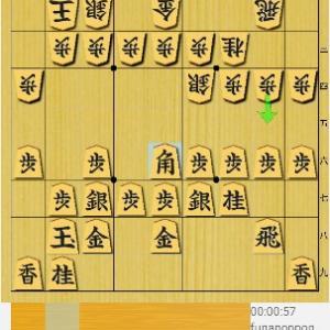 ちょい強いライバルの棋譜を検討してみた。角交換四間飛車