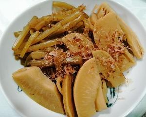 フキとタケノコの煮物