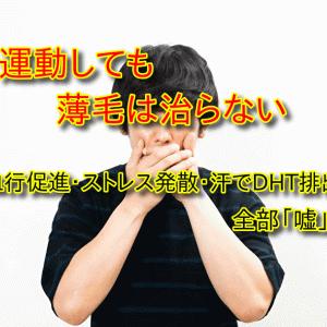 【悲報】運動しても薄毛は治らない事実【無関係】