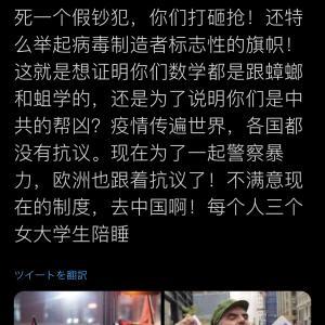 【あっ】アメリカ反警察デモ参加者さん、なぜか中国共産党党旗や中国国旗を掲げてしまう