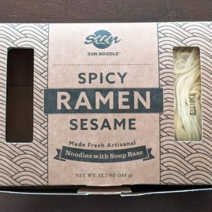 SUN NOODLEの「担々麺」を食べてみた!辛すぎず甘すぎないスープが絶妙!シリーズの中で一番美味しかったです!
