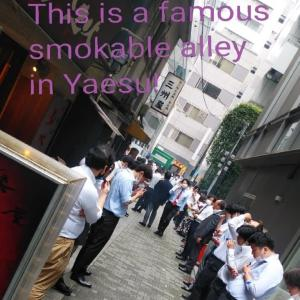 This is a famous  smokable alley  in Yaesu!