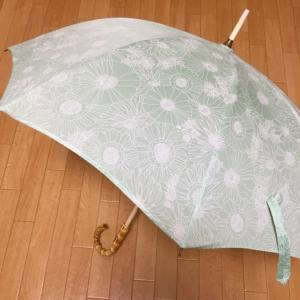 爽やかな緑色の日傘、完成!