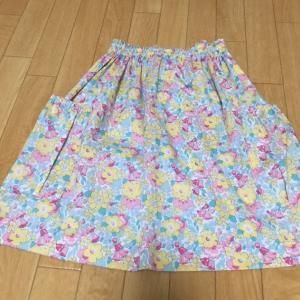 リバティLaurel(ローレル)でおチビにスカートを作ったよ