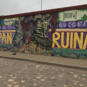 ホンジュラスで唯一外国人観光客が集まる町コパンルイナス