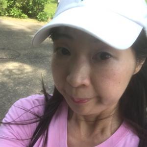 ジョギング中〜タタタッ!!≡≡≡ヘ(*-ω-)ノ