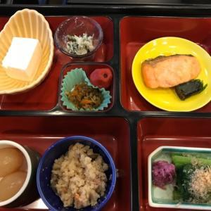 今日、小野川温泉の山川さんでの朝食(〃)´艸`)オイシー♪