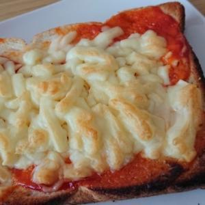 焦げたチーズトースト