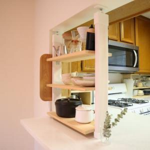 簡単DIY キッチンに飾り棚を