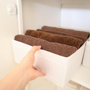 IKEAのSKUBBを使って タオルの収納