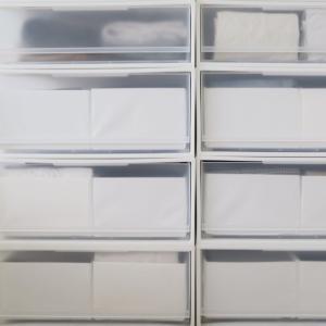 無印良品の収納ケースにIKEAの仕切りボックスがシンデレラフィット