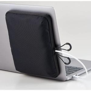 ノートPCに貼り付けて使う「ノートPCに貼り付けるポーチ」をキングジムが発売