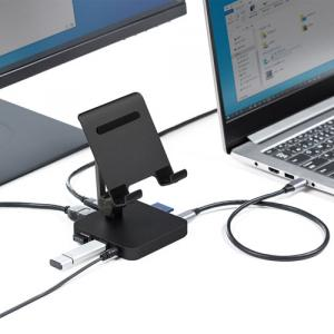 タブレットをパソコンのように使う「サンワサプライ USBドッキングハブ」