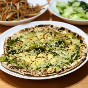 ピザ&きんぴら&青梗菜炒め