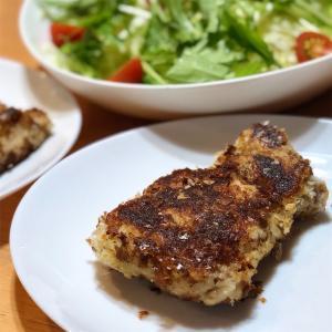 鶏ももマッシュポテト焼き&サラダ