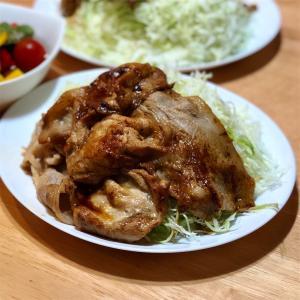 生姜焼き定食&ピクルス3日漬け