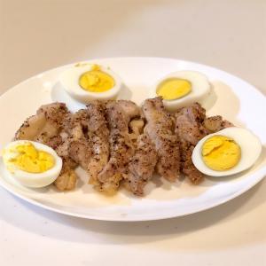 鶏のガーリックソルト焼き&ズッキーニマヨ焼き&ピクルス3日漬け