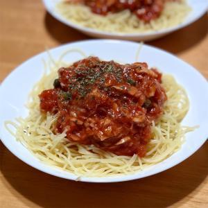 トマト冷製パスタ