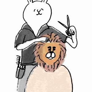 髪を切るのがめんどくさい