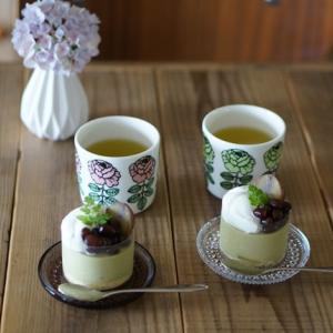 今週のおやつは抹茶ババロア