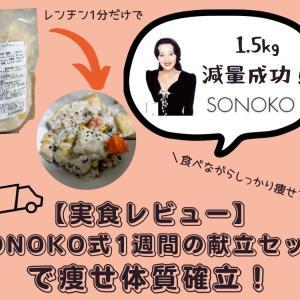 【実食レビュー】「SONOKO式1週間の献立セット」で痩せ体質確立!1.5kgやせられたよ!