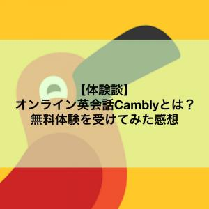 【体験談】オンライン英会話Camblyとは?無料体験を受けてみた感想