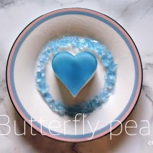 【スイーツ】バタフライピーのゼリーケーキ*レシピ*作り方*バタフライピーとは♬