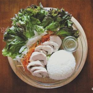 鶏胸肉*しっとり鶏ハムとサラダのワンプレート*今日のダイエットご飯*