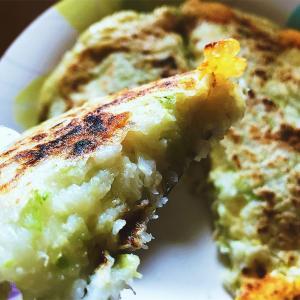 米だけでOK♬簡単とろとろチーズお好み焼きレシピ♬グルテンフリーおかず