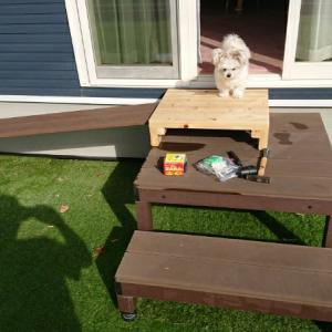 犬用スロープに滑り止め加工DIY