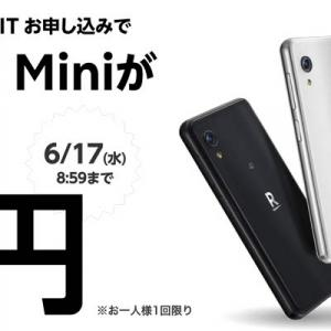 Rakuten Miniが1円で買える!落とし穴とかないの?