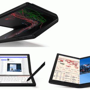 """【PC】ソフトバンク、世界初のLenovo製 """"画面折りたたみPC""""「ThinkPad X1 Fold」発売… 5G対応で約40万円 !"""