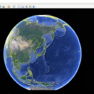 Google Earthを使ってみたができなかった。