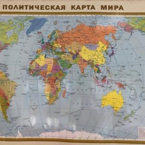 ロシア語バージョンの世界地図をZoomの背景にした