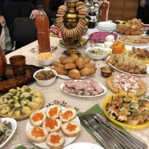 ノボシビルスクでの訪問団歓迎会の様子(2018年)