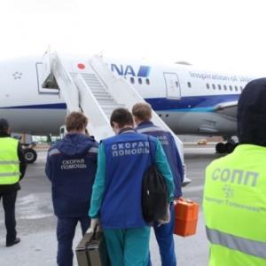全日空機がノボシビルスクに緊急着陸した