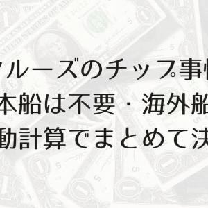 【クルーズ船のチップ事情】日本船は不要・海外船は自動計算でまとめて決済
