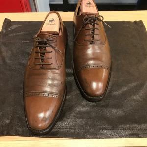 [スコッチグレイン ブラウン] 靴磨きは水戸市の靴修理屋 みらい工房へ