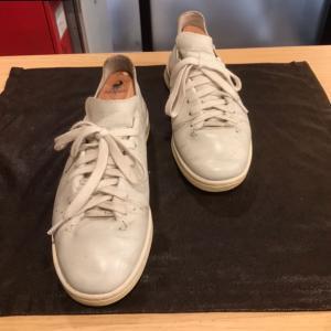 [スタンスミス スニーカー] 靴磨きは水戸市のみらい工房
