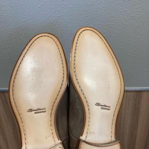 サントーニ 滑り止めハーフソール水戸市の靴修理はみらい工房へ
