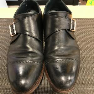 【トゥスチール】 滑り止めハーフソール水戸市の靴修理はみらい工房へ